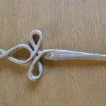 Haardolch, Holz: Nusbaum, Länge: ca. 18cm