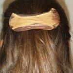 Haarspange aus Rebholz, ca. 10 cm lang
