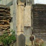 Säule, Eiche von altem Schiffanbindepfahl, Schifflände Stein am Rhein, 250 cm
