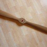 Probeller aus Nussbaum, 120 cm