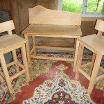 Barhocker-Stuhl 1er und 2er in Erle, geölt