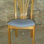 Stuhl, Ersatz von drei Sprossen in der Lehne, Eiche
