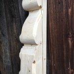 Verfaulter Aufschiebling, 14x14x180cm, Nachbau