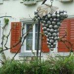 Traube mit Blatt, Doldenhöhe 130 cm, Leihbachers Weine Hemishofen, Stahl