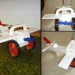 Flieger für kleine Piloten, ähnlich wie Bobbycar