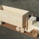 Lastwagen, Fichte,  Anhängergrösse 80 x 40 cm