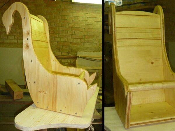 Kindersitz Stuhl-Aufbau, Schwan