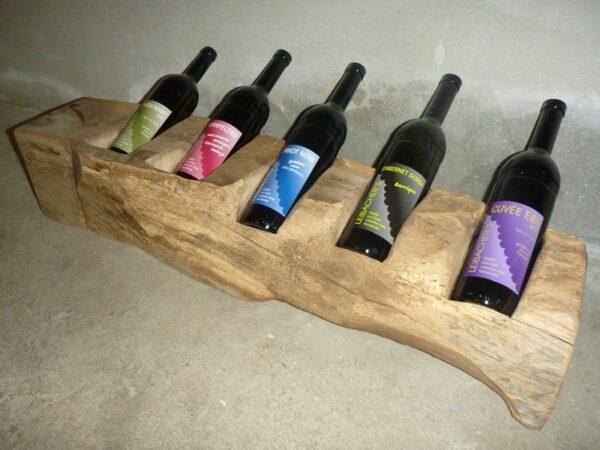Flaschenhalter Alter Eichenbalken
